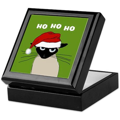 Siamese Santa Claws Keepsake Box