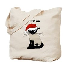 Siamese Santa Claws Tote Bag