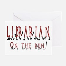 Librarian on the run Greeting Cards (Pk of 10)