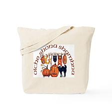 Symbols of Halloween (Gaelic) Tote Bag