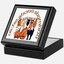 Symbols of Halloween (Gaelic) Keepsake Box