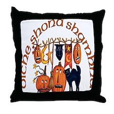 Symbols of Halloween (Gaelic) Throw Pillow