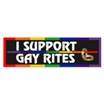 I SUPPORT GAY RITES Bumper Sticker