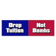 NOT BOMBS Bumper Bumper Sticker