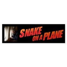 SNAKE ON A PLANE Bumper Bumper Sticker