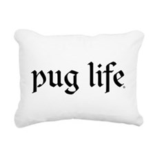 Pug Life Basic Rectangular Canvas Pillow