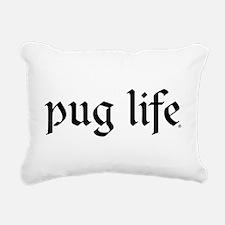 Pug Life Basic Rectangular Canvas Pillow