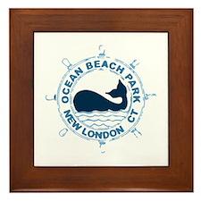 Ocean Beach Park CT - Whale Design. Framed Tile