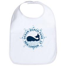 Ocean Beach Park CT - Whale Design. Bib