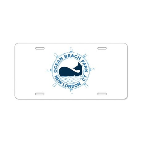 Ocean Beach Park CT - Whale Design. Aluminum Licen
