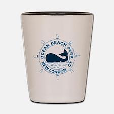 Ocean Beach Park CT - Whale Design. Shot Glass