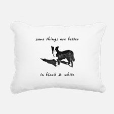 3-borderCollieBetterBW.png Rectangular Canvas Pill