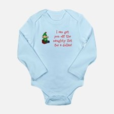 Naughty List Deal Long Sleeve Infant Bodysuit