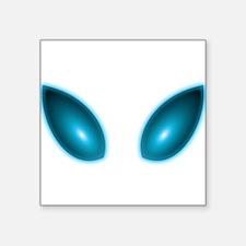 "Alien eyes Square Sticker 3"" x 3"""