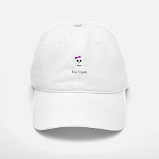 Skull Grrrl - Go Vegan - Baseball Baseball Cap