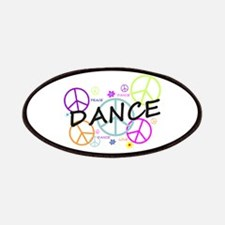 Colored Peace Signs Dance Patches