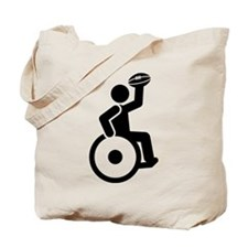 Wheelchair Rugby Tote Bag