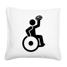 Wheelchair Rugby Square Canvas Pillow