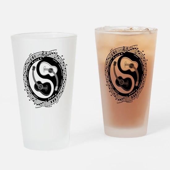 Yin Guit Notation Drinking Glass