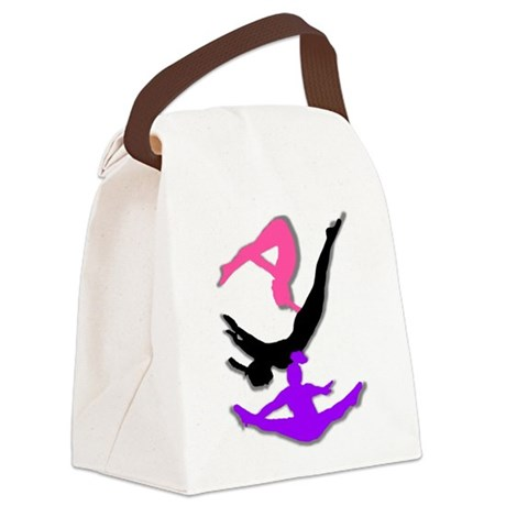Trampoline Gymnast Canvas Lunch Bag