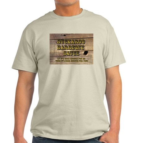 Buckaroo on Wood - Ash Grey T-Shirt