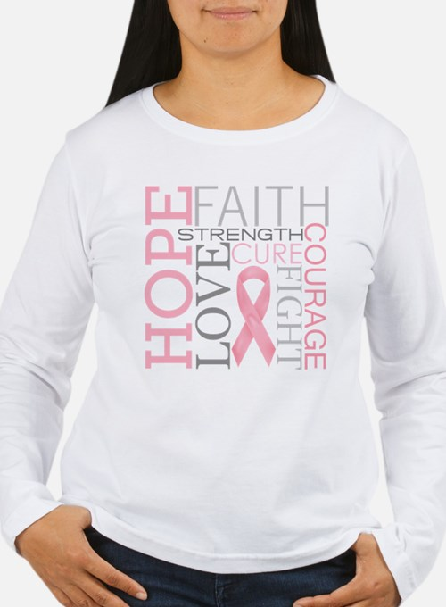 Breast Cancer Collage Long Sleeve T-Shirt