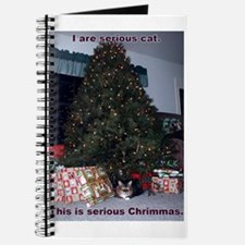Serious cat card Journal