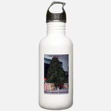 Serious cat card Water Bottle