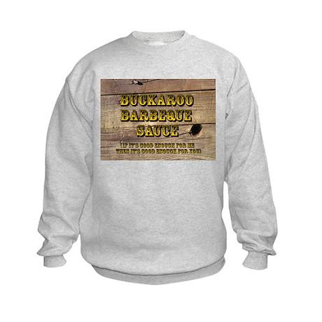 Buckaroo on Wood - Kids Sweatshirt