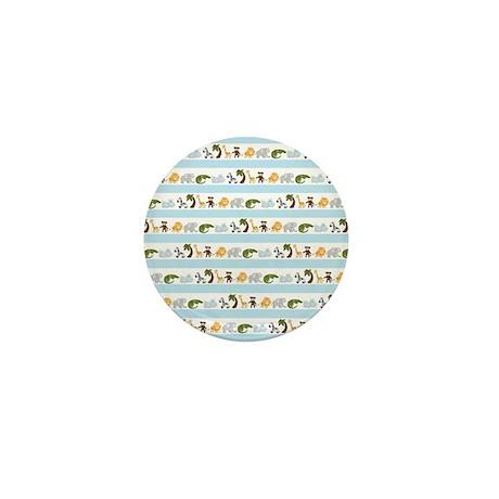 Jungle Animal Stripes Mini Button (10 pack)