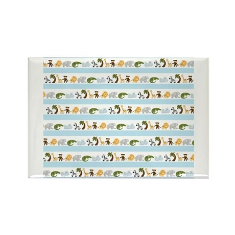 Jungle Animal Stripes Rectangle Magnet (10 pack)