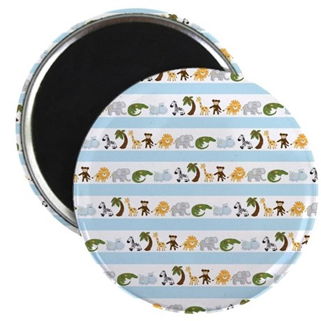 "Jungle Animal Stripes 2.25"" Magnet (10 pack)"