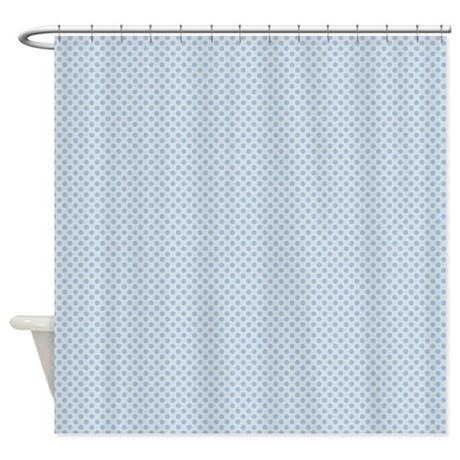 baby blue polka dots shower curtain by printedlittletreasures