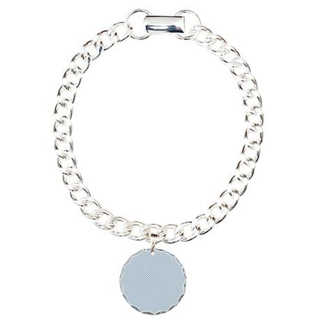 Baby Blue Polka Dots Charm Bracelet, One Charm