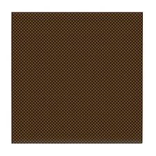 Brown Polka Dot Print Tile Coaster