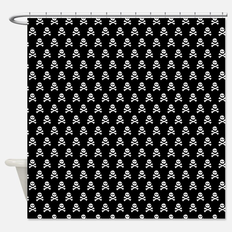 Punk rock baby shower curtains punk rock baby fabric for Punk rock bathroom decor