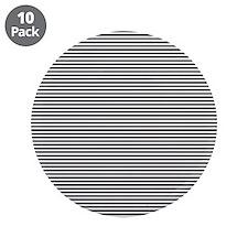 "Black White Stripes 3.5"" Button (10 pack)"