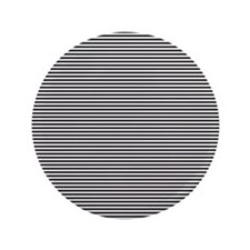 "Black White Stripes 3.5"" Button"