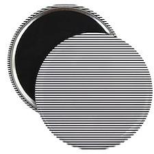 Black White Stripes Magnet