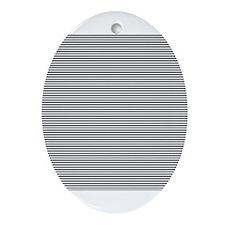 Black White Stripes Ornament (Oval)