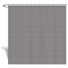 Black White Stripes Shower Curtain