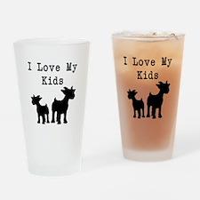 I Love My Kids Drinking Glass