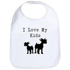 I Love My Kids Bib