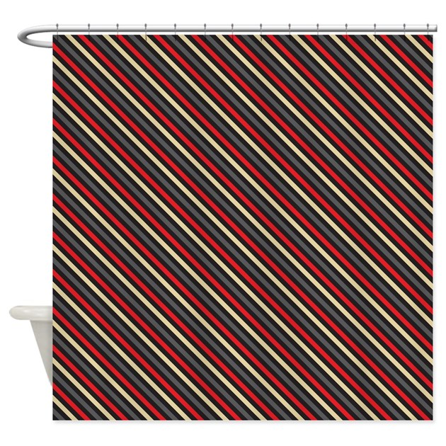 Nautical pirate stripes shower curtain by printedlittletreasures