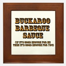 Buckaroo Barbeque Sauce - Framed Tile