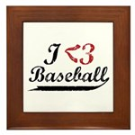 Geeky Baseball Fan Framed Tile