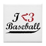 Geeky Baseball Fan Tile Coaster