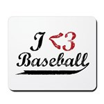 Geeky Baseball Fan Mousepad