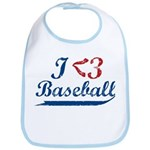 Geeky Baseball Fan Bib