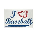 Geeky Baseball Fan Rectangle Magnet (10 pack)